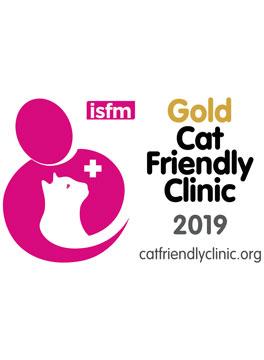 ISFM Gold cat friendly logo
